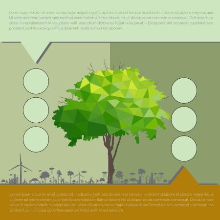 infografía ecológicos con árboles concepto infografía