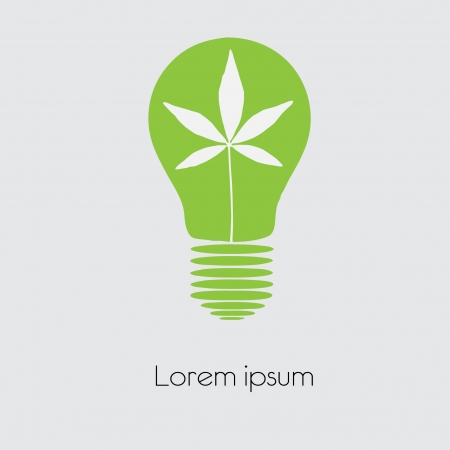 Concept  tree in light bulb symbol of renewable energy  Vector