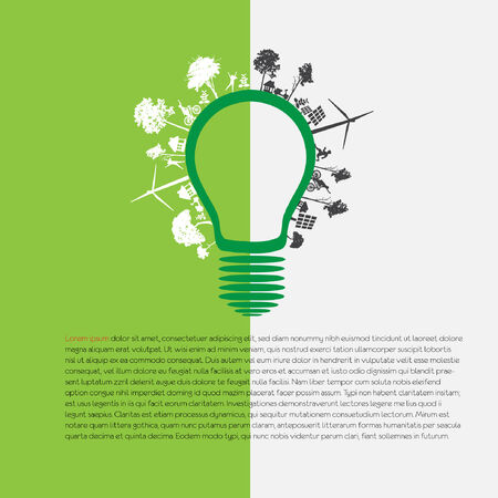 infographic green eco energy concept Vector