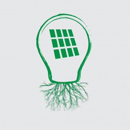 photovoltaics: ecology concept - bulb design