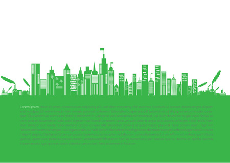 Go green city  Industry sustainable development