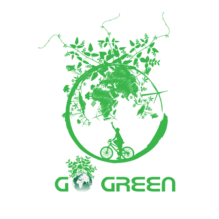 solarpower: Green earth with bike reduce CO2