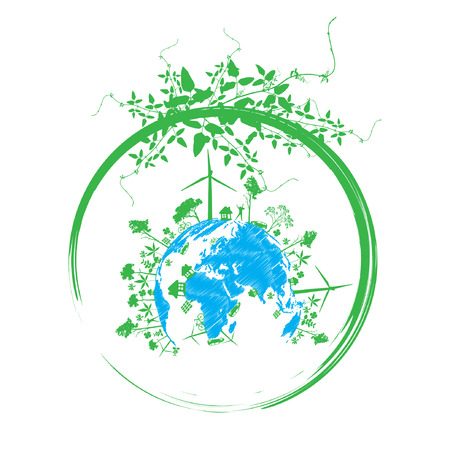 solarpower: Green earth with   reduce CO2