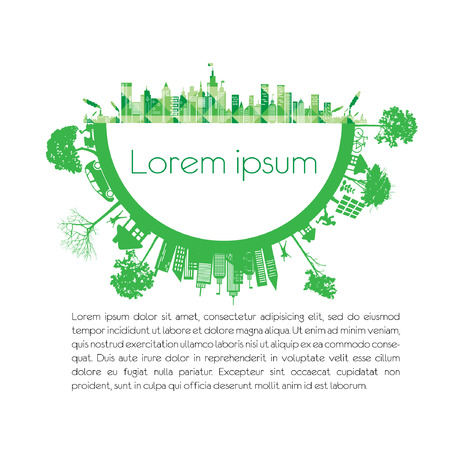 modern city living concept and ECO concept Vector