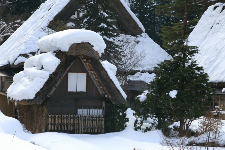 Cottage at Gassho-zukuri Village Shirakawago japan