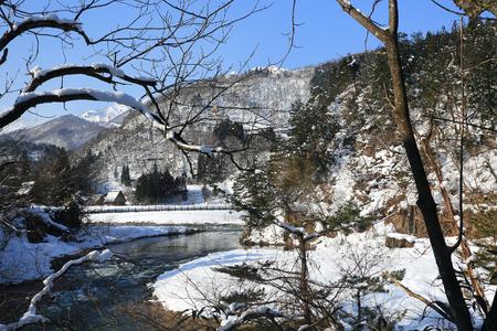 gokayama: River at Gassho-zukuri VillageShirakawago