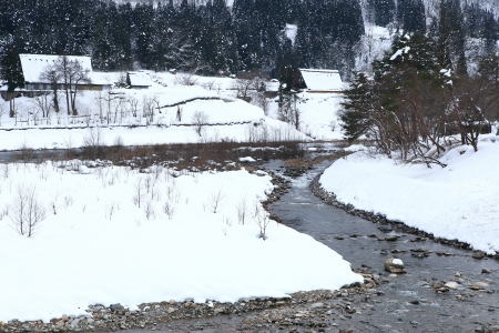 River at Gassho-zukuri VillageShirakawago photo