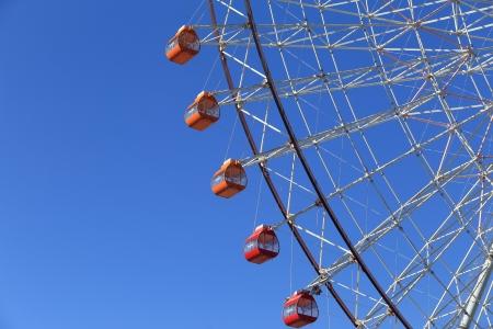acrophobia: Ferris Wheel - Osaka City in Japan