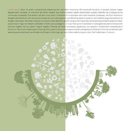 reforestaci�n: tierra verde - concepto de desarrollo sostenible