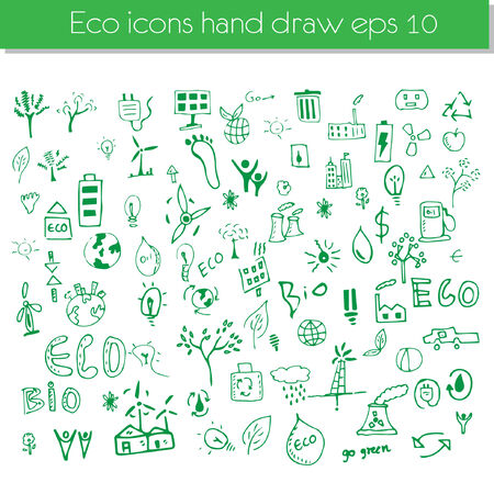 Vector hand drawn design elements - eco Vector