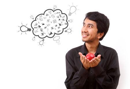 Business man thinking to creative idea photo