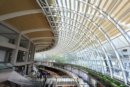 SINGAPORE - May 11: Shopping mall at Marina Bay Sands Resort on May 11, 2014 in Singapore. It is billed as the worlds most expensive standalone casino property