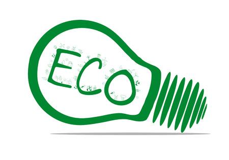 Vector ecology concept - bulb design Vector