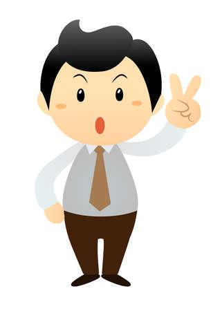 cartoon business man Vector