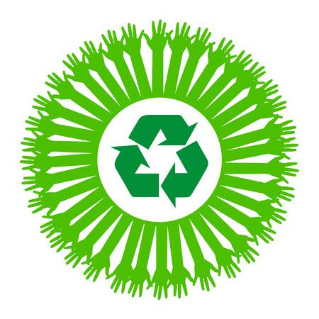 Hand style save the Earth  idea Vector