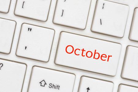 Computer key - October photo
