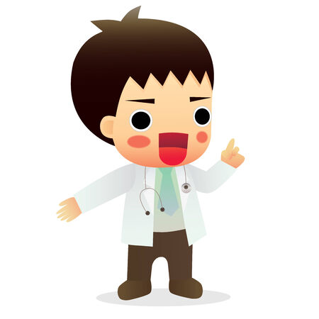 general practitioner:  cute little male doctor