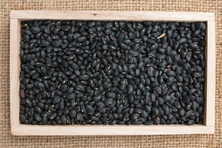 Black Eyed Peas on sack background photo