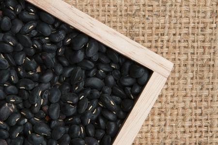 Black Eyed Peas on sack background photo