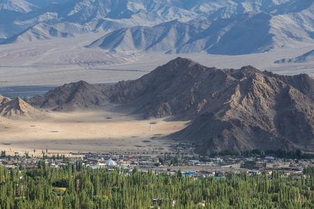 leh: View of Leh town, India