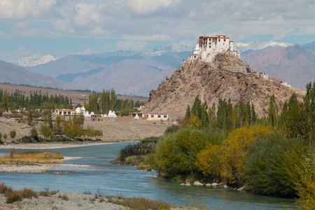 Stakna Monastery is a Buddhist monastery that was founded on a hill by the Indus river photo
