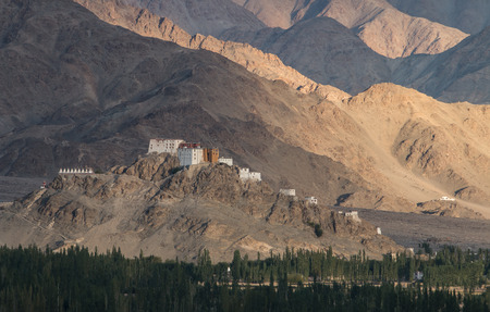 gompa: Matho Monastery is a Buddhist monastery in Ladakh, India Stock Photo