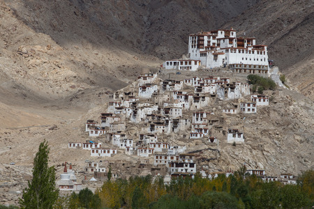 Chemdey gompa, Buddhist monastery in Ladakh, Jammu & Kashmir, India photo