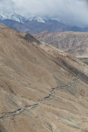 Himalayas along Manali-Leh highway. Himachal Pradesh, India photo