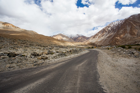 High altitude road in Himalayas