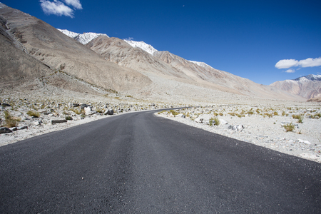 High altitude road in Himalayas photo
