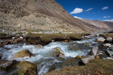 Himalayan river , Ladakh, India.(Himalayan landscape) photo