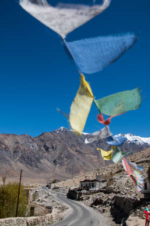 Prayer flag at Leh, Ladakh, India photo