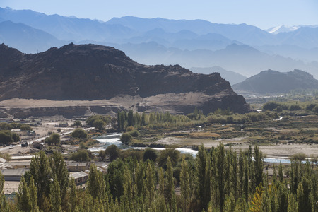 ladakh: Landscape view of Leh Ladakh, Northern India. Stock Photo