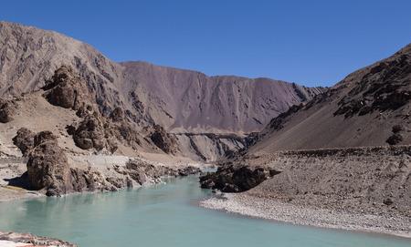 ladakh: Himalayan landscape in Himalayas. Ladakh, India Stock Photo