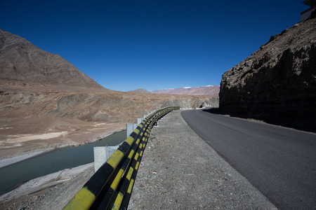 confluence: Confluence of Zanskar and Indus rivers - Leh, Ladakh, India