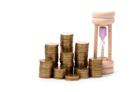 hourglasses: Hourglasses and columns of coins