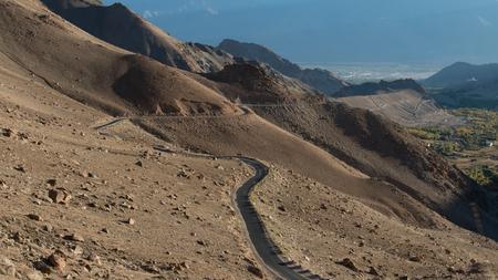 altitude: High altitude road in Himalayas