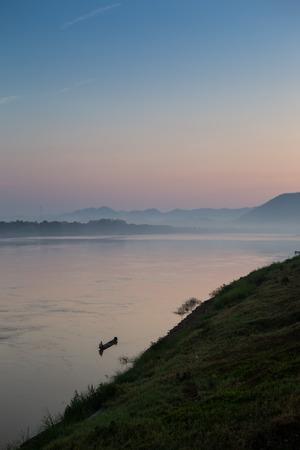 mekong river, thailand and laos photo