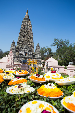 sarnath: Mahabodhi temple, bodh gaya, India. The site where Gautam Buddha attained enlightenment