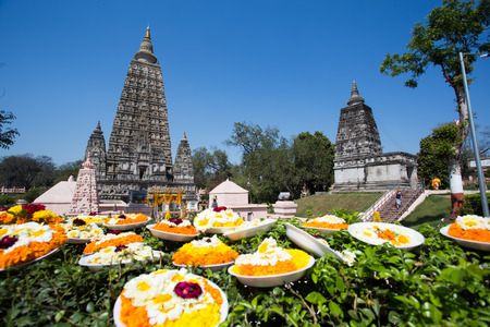 Mahabodhi temple, bodh gaya, India. The site where Gautam Buddha attained enlightenment