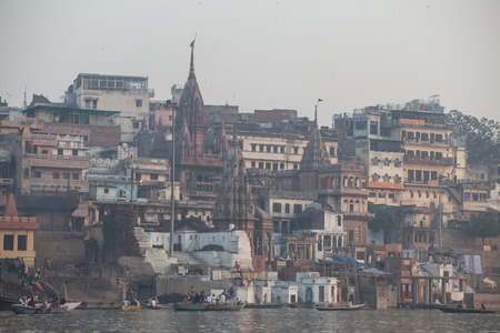 benares: VARANASI, INDIA - March 17: Varanasi, also known as Benaras, is the oldest city in the world and the holy city of India. It is more than 3000 years old on march 17, 2015 in Varanasi, Uttar Pradesh, India