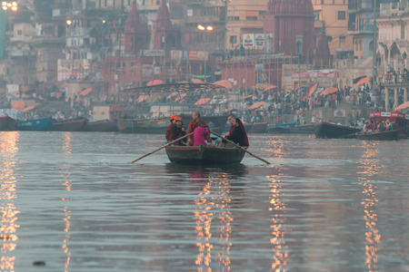 17 years: VARANASI, INDIA - March 17: Varanasi, also known as Benaras, is the oldest city in the world and the holy city of India. It is more than 3000 years old on march 17, 2015 in Varanasi, Uttar Pradesh, India