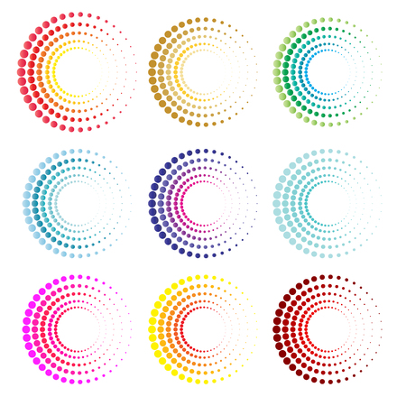 circle design: Modern circles symbol and icon