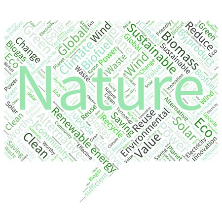 carbon footprint: Ecology Earth concept word collage. Environmental poster design template