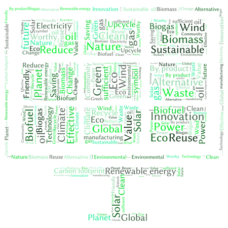 worthy: Ecology Earth concept word collage. Environmental poster design template