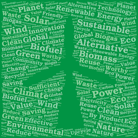renewables: Renewables or renewable energies concept. Word cloud Illustration