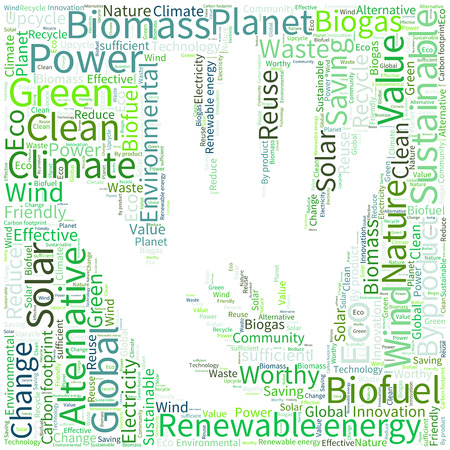 biogas: Ecology Earth concept word collage. Illustration