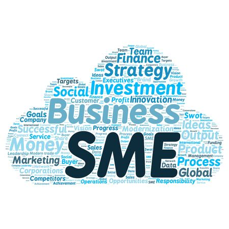 cloud background: Business & finance related word cloud background