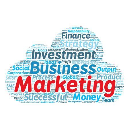 modernization: Business & finance related word cloud background