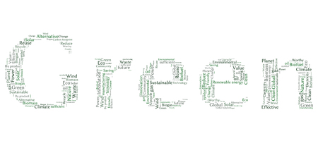 biogas: Ecology Earth concept word collage